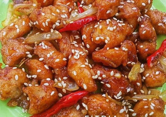 Resep Praktis Ayam tepung saus teriyaki Tanpa Tanding
