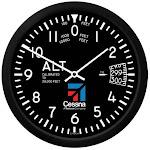 """10"""" Cessna Altimeter Round Clock"""