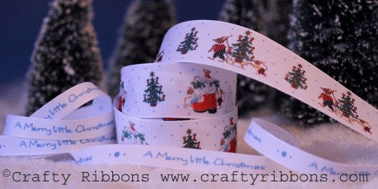 christmas mice ribbon