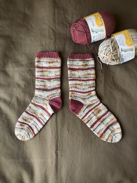 niji iro socks (test.ver) 編みました