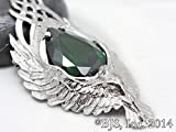 Lord of the Rings Elessar TM The Elfstone Stone of Earendil Green Necklace in Sterling Silver