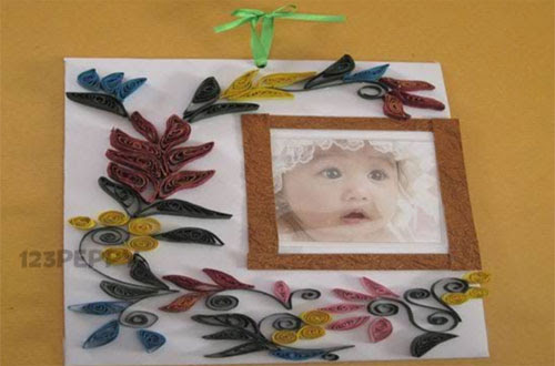 How To Make A Floral Photo Frame Online 123peppycom
