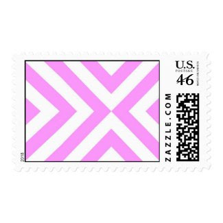 Pink and White Chevrons Postage Stamp