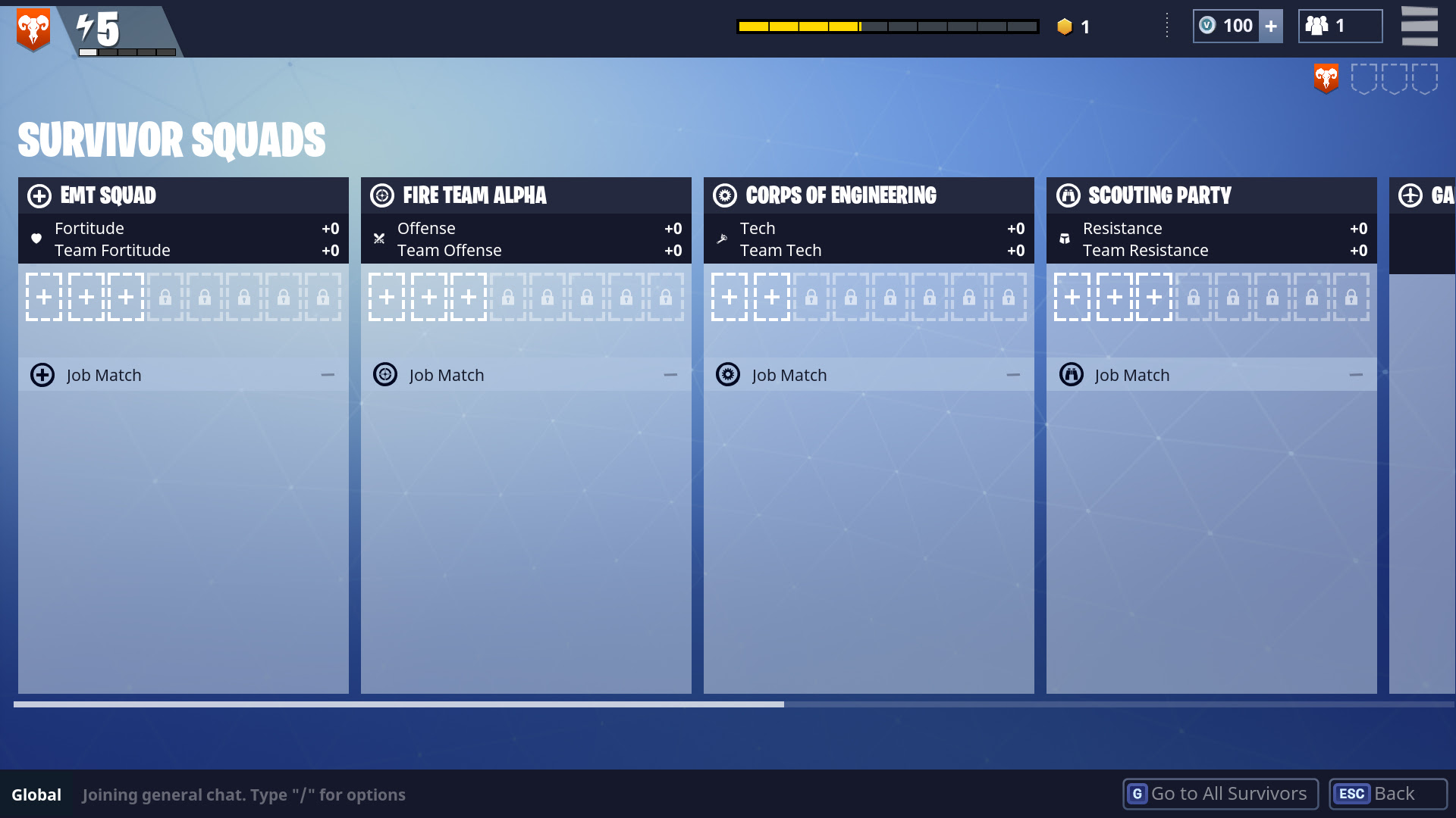 Hero Stats And Squads Explained Fortnite - using the emt squad as and example this will increase our fortitude stat giving us more health to do this we need a lead survivor for the squad