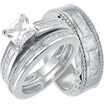 Sterling Silver His and Her Wedding Bands Hers is a Classic Style 9 / 8 / Silver