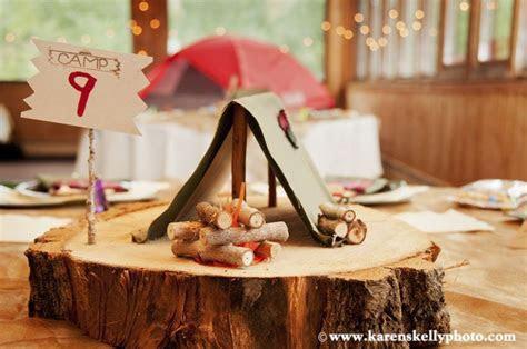 Camping themed wedding at Sunlight Mountain Resort