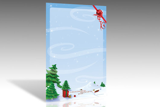 Christmas Tree Forest Stationery ~ Stationery Templates on Creative Market