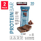Kirkland Signature Protein Bars Chocolate Brownie 20 count, 2-pack