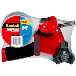 Scotch Packaging Tape with Dispenser - Red