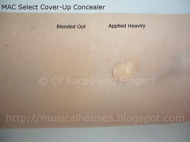 mac select cover up concealer NC20 swatch