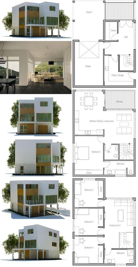 modern minimalist house plan architectural design