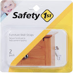 Safety 1st Furniture Wall Straps, White - 2 pack