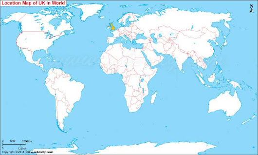 Where is United Kingdom (UK) Located, UK Location in World Map