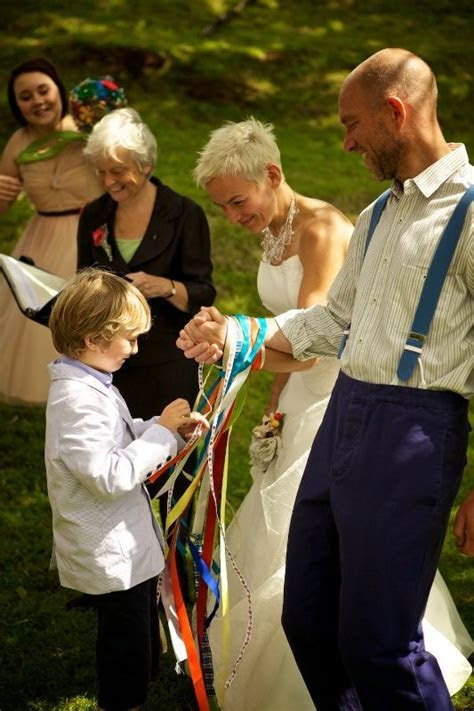 Instead of the customary handfasting cords I'd like to