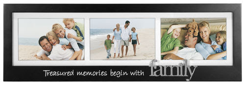 Family 3 Openings 4x6 Horizantal Photo Frame Athena Posters