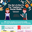 The Do's and Don'ts for Teachers on Social Media Infographic - e-Learning Infographics