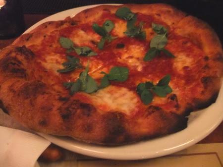 Margherita pizza at Mozza