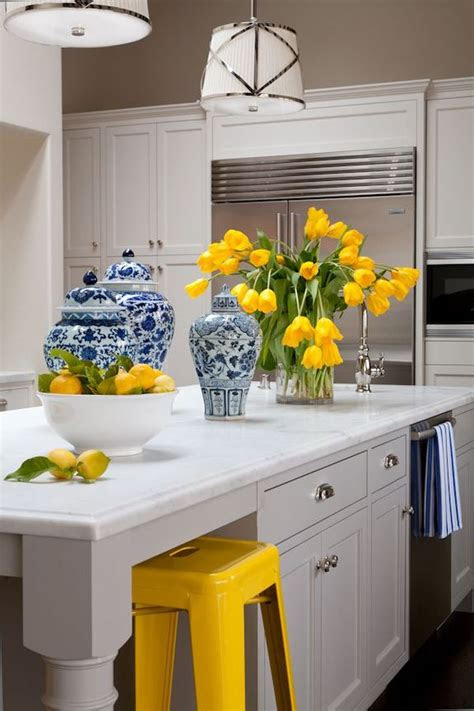 decorate  kitchen  yellow accents