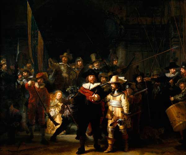 Ronda de noche en Ámsterdam