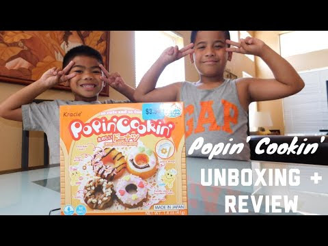POPIN' COOKIN' Happy Kitchen Donut Making Kit - Unboxing and Taste Test