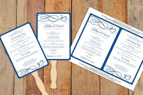 diy wedding fan program template   karmakweddings