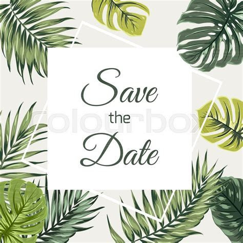 Save the date wedding event invitation card template