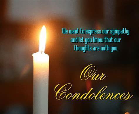 We Express Our Sympathy  Free Sympathy & Condolences