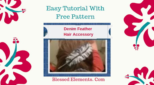 Bohemian Reversible Feather Hair Pin Tutorial Features a 2 in 1 Denim