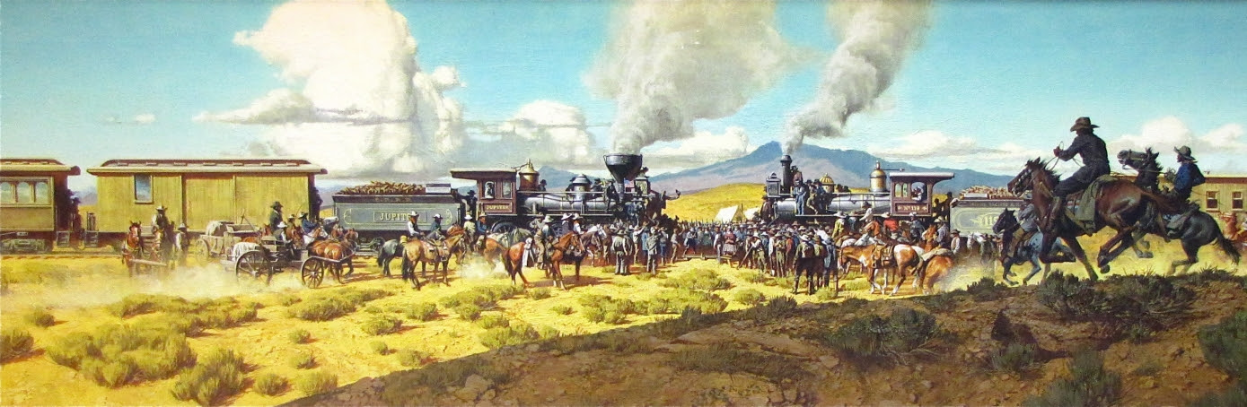 Image result for transcontinental railroad images