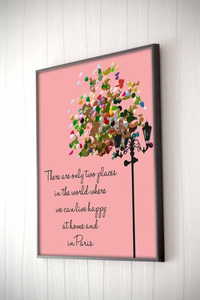 2 Happy Places Framed Quote The Chic Pad