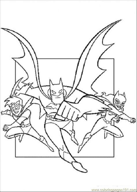 coloring pages batman catwoman  robin cartoons