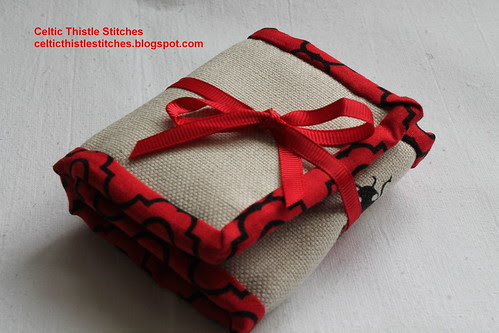 Red Travel Sewing Wallet