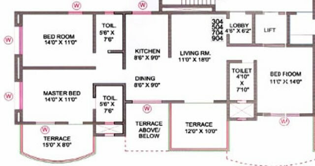 3 BHK Flat in Orchid Towers, Baner, Pune 411 045