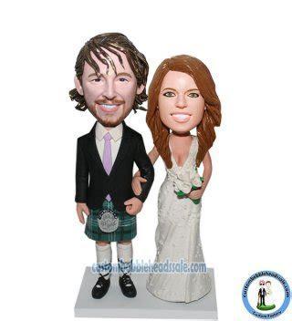 Custom Wedding Bobblehead The Scotland Dress Cheap