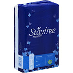 Stayfree Reg Maxi Pad 24c Size 24ct Stayfree Regular Maxi Pad 24ct -PACK 8