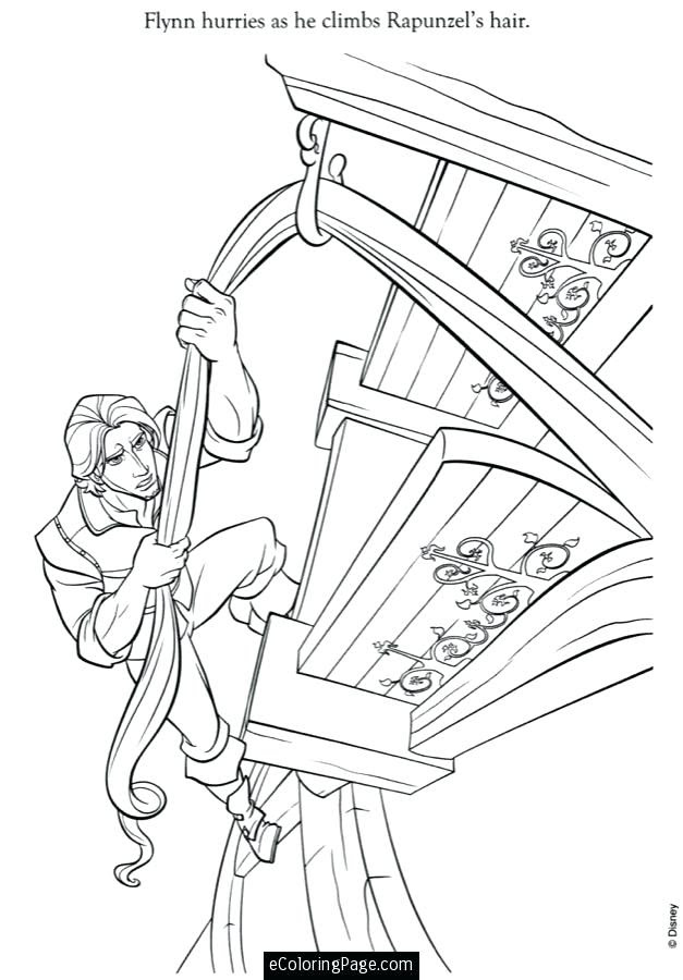 Rapunzel And Flynn Coloring Pages At Getdrawingscom Free For