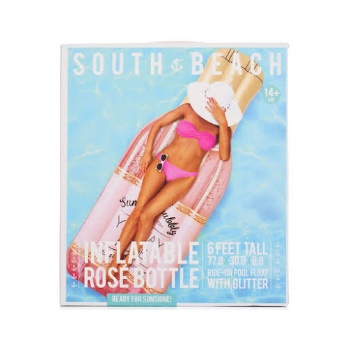 South Beach Rosé All Day Inflatable Glitter Pool Float