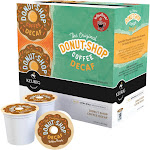 Donut Shop Keurig Hot Coffee, Medium Roast, Extra Bold, Decaf, K-Cup Pods - 18 pack, 0.39 oz pods