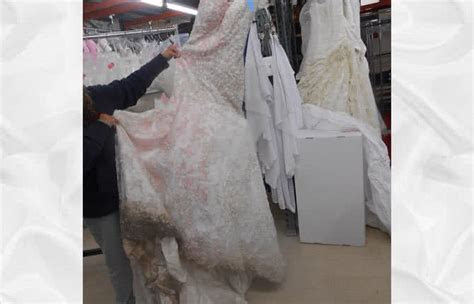 Before & After Wedding Dress Restoration Gallery