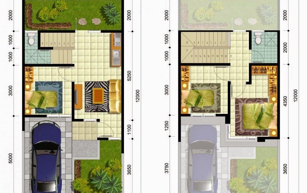 14+ Desain Rumah Minimalis 2 Lantai Type 50