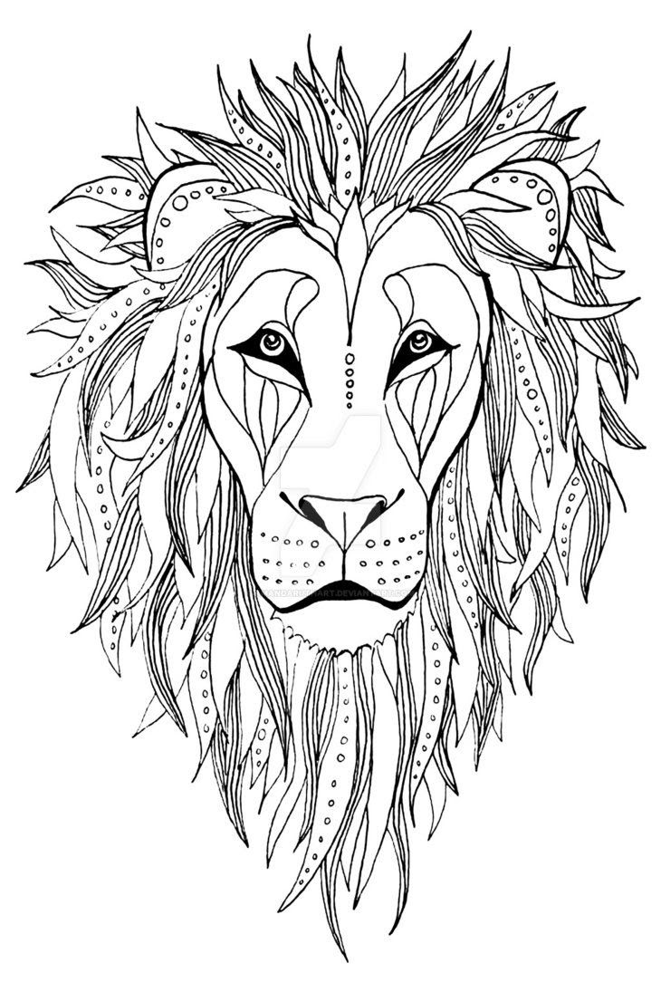 Abstract Lion Drawing at GetDrawings | Free download