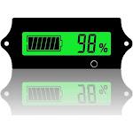12v 24v 36v 48V Battery Voltage Meter rv with LCD Display Green... by Adesso Power