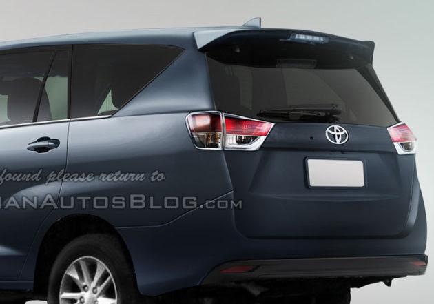 Ini Dia Bentuk Belakang Toyota Innova 2016!