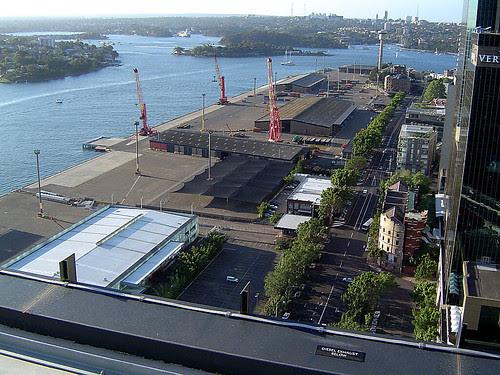 Docks below