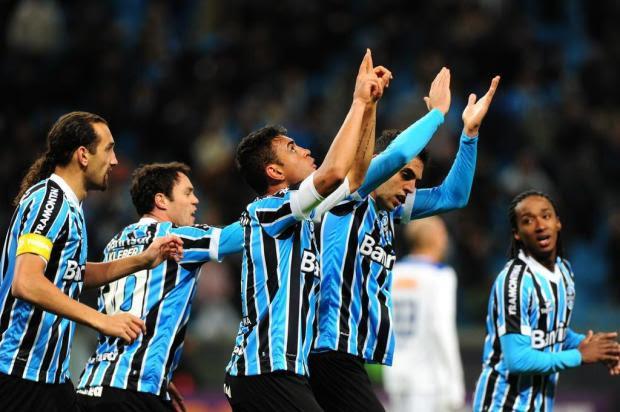 Grêmio vence o Cruzeiro por 3 a 1 na Arena e chega ao G-4 do Brasileirão Bruno Alencastro/Agencia RBS
