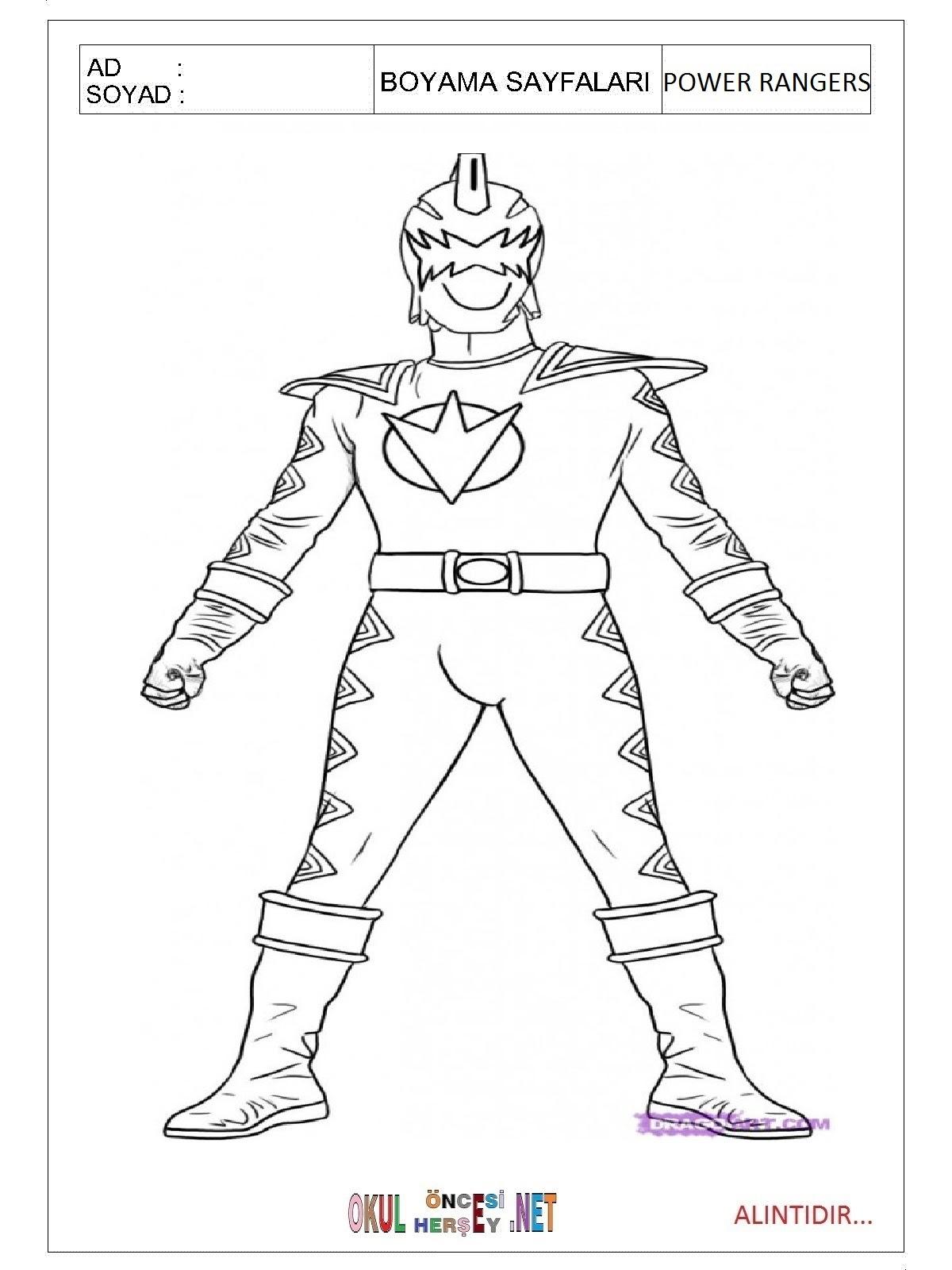 Power Rangers Boyama Sayfaları