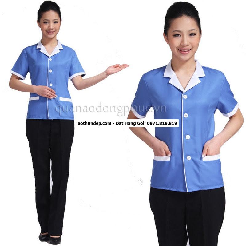 quần áo đồng phục tạp vụ