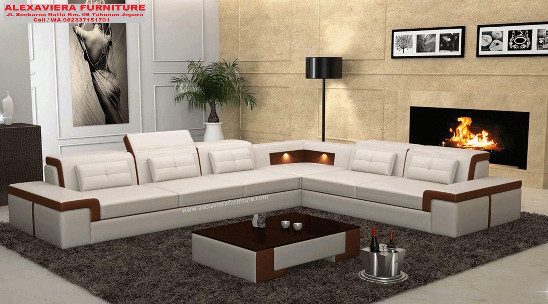 Sofa Tamu Sudut Minimalis Modern Mewah Terbaru Kekinian KT 096 Sofa