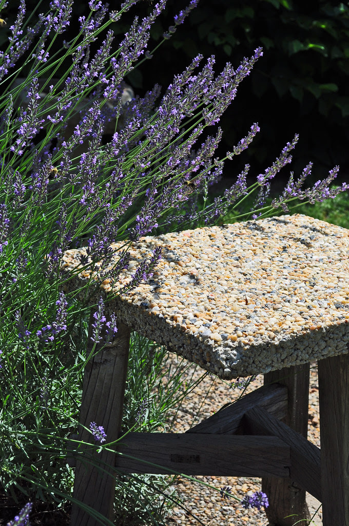 Stool with Lavender