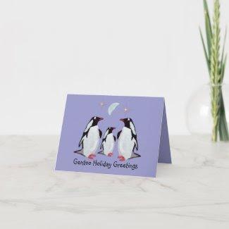 Gentoo Penguin Greetings Card card